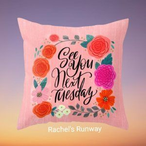 🆕2/$30 Funny Swear Word Decorative Cushion Cover